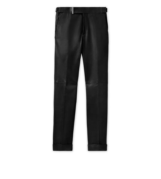 LEATHER TAILORED TROUSERS