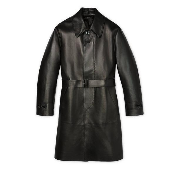 LEATHER TRENCH COAT A fullsize