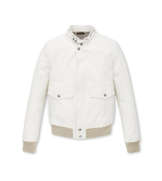 SOFT LEATHER HARRINGTON BLOUSON