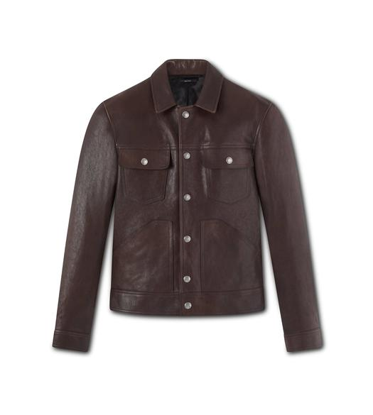 WORKED LEATHER WESTERN BLOUSON