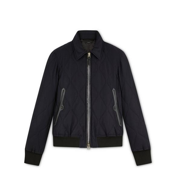 CASHMERE WOOL QUILTED BLOUSON A fullsize