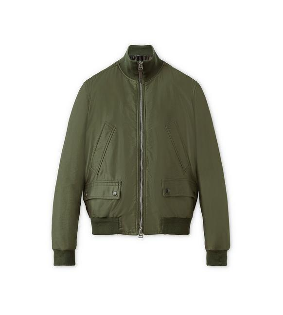 SATIN PEACHED TWILL LIGHT FILL BLOUSON A fullsize