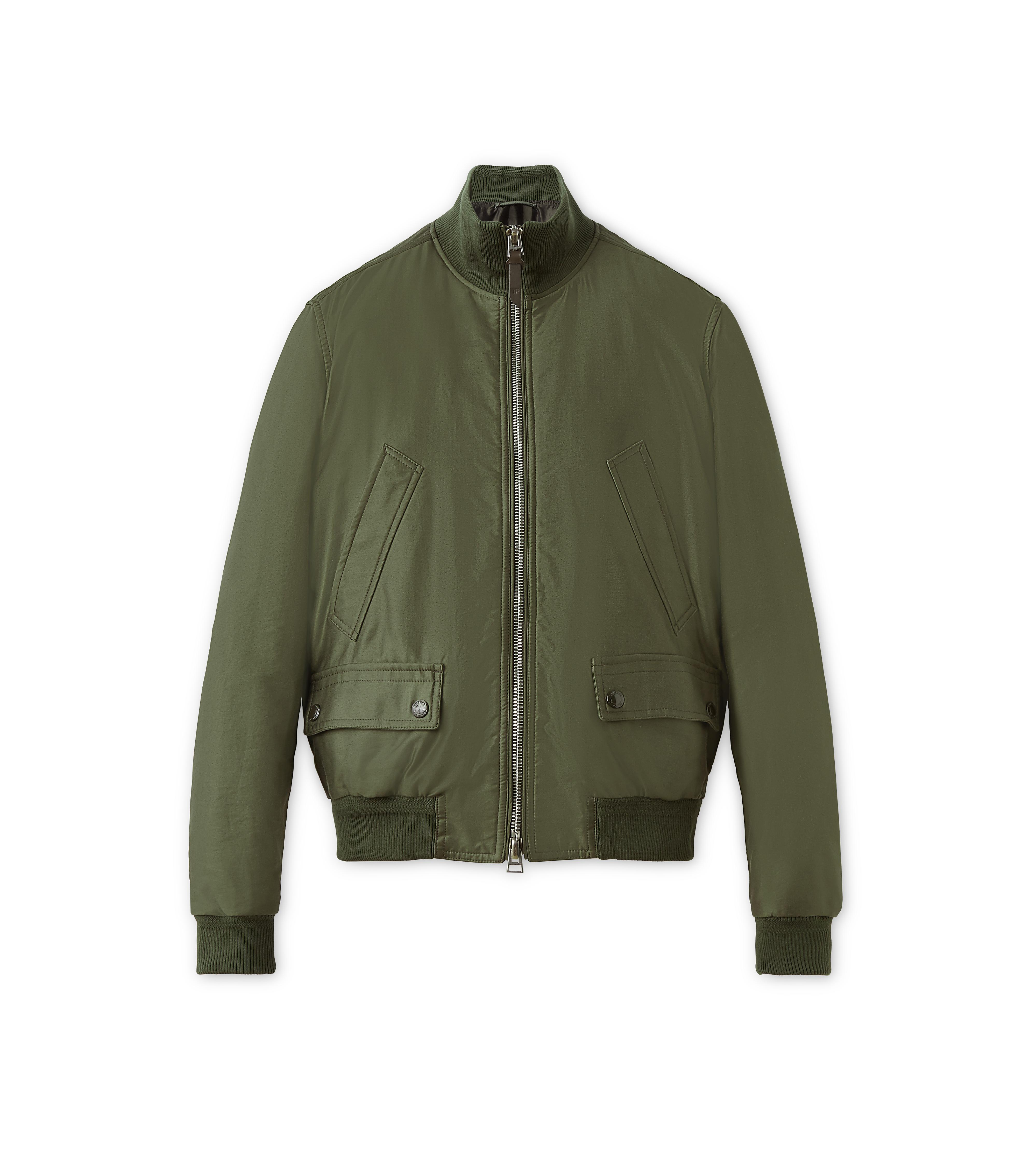 SATIN PEACHED TWILL LIGHT FILL BLOUSON A thumbnail