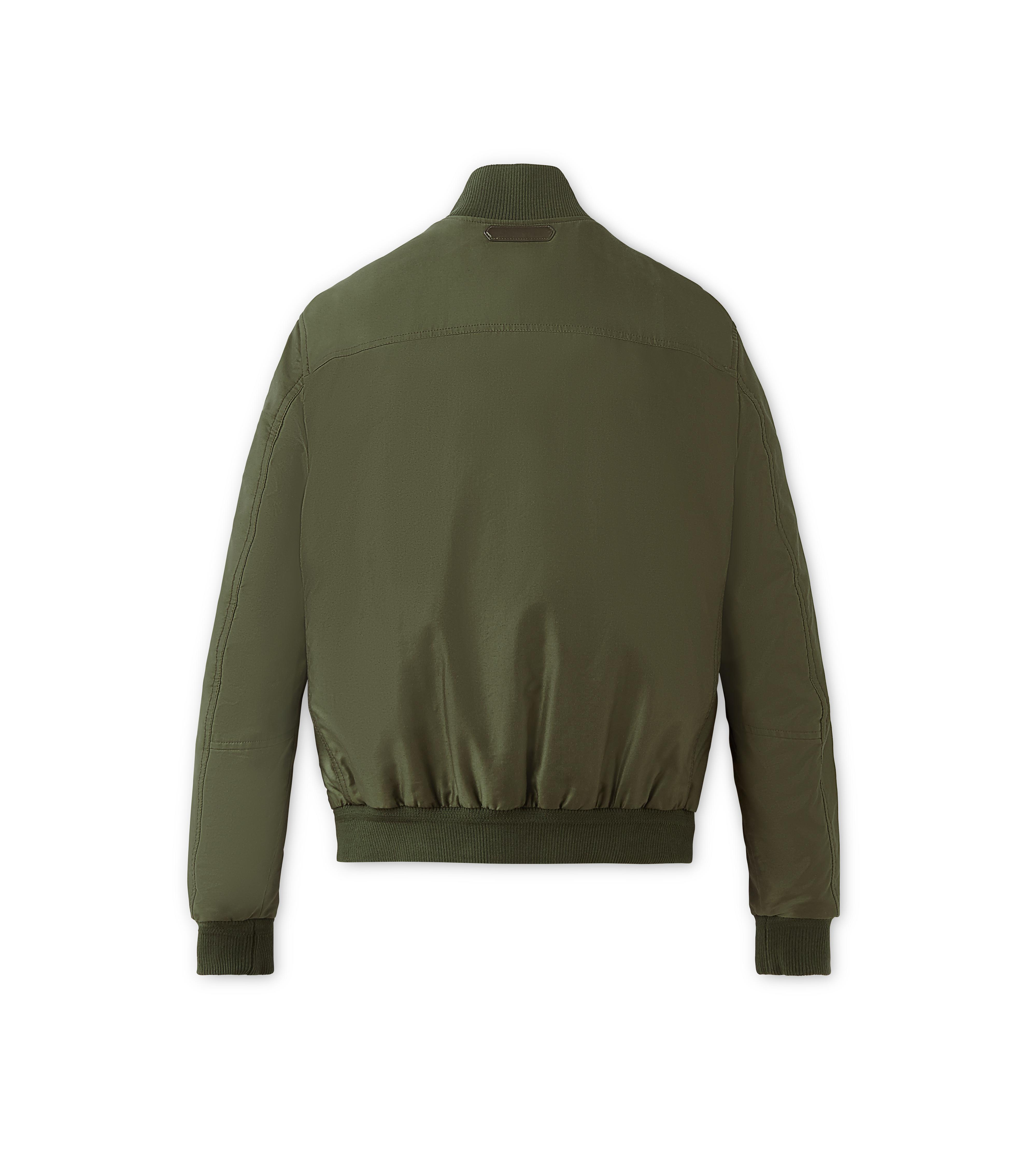 SATIN PEACHED TWILL LIGHT FILL BLOUSON B thumbnail