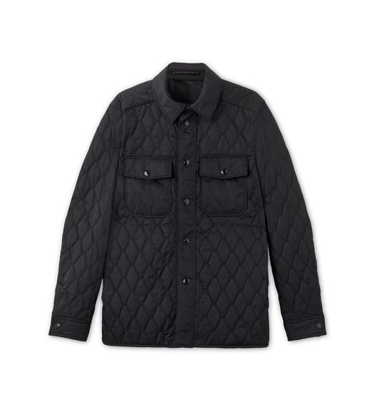 NYLON TWILL DIAMOND QUILTED OUTER SHIRT