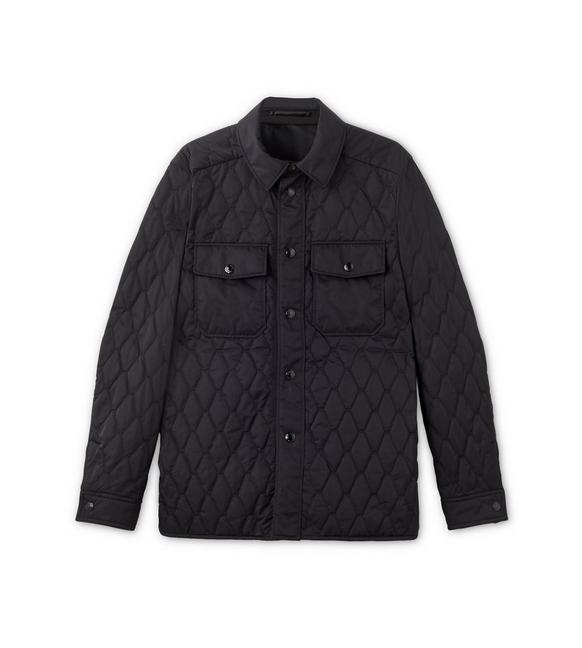 NYLON TWILL DIAMOND QUILTED OUTER SHIRT A fullsize