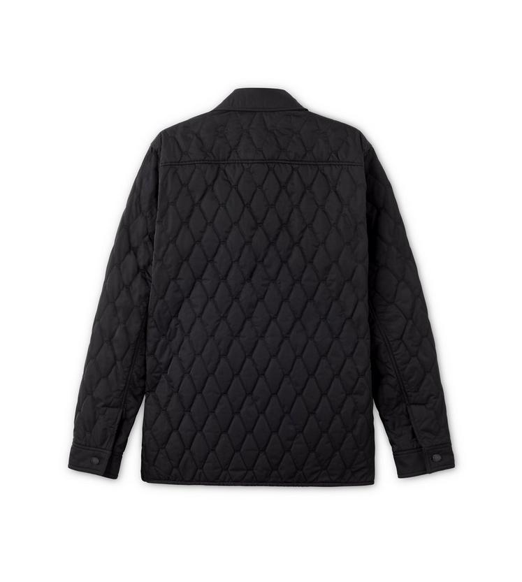 NYLON TWILL DIAMOND QUILTED OUTER SHIRT B fullsize