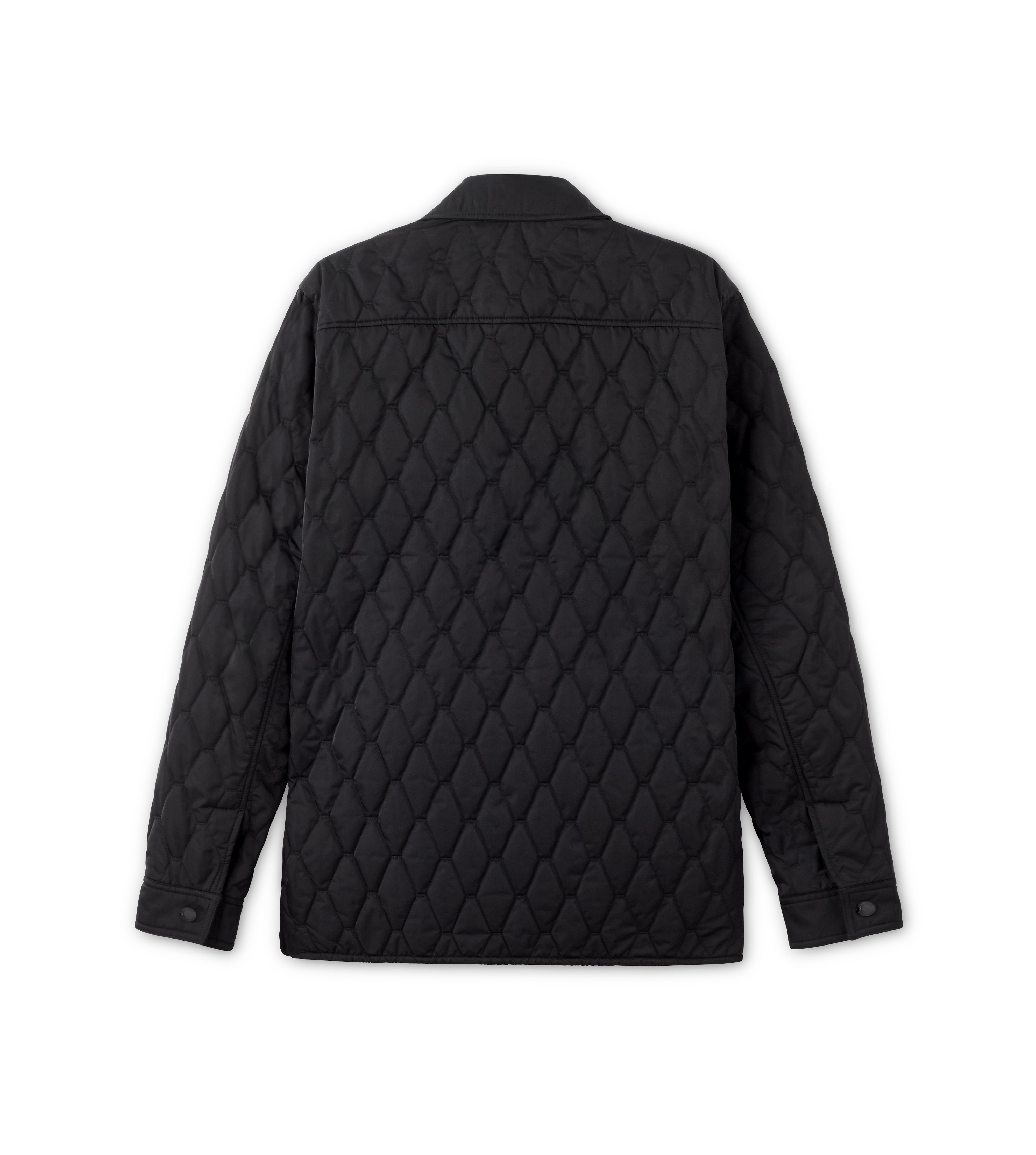 NYLON TWILL DIAMOND QUILTED OUTER SHIRT B thumbnail