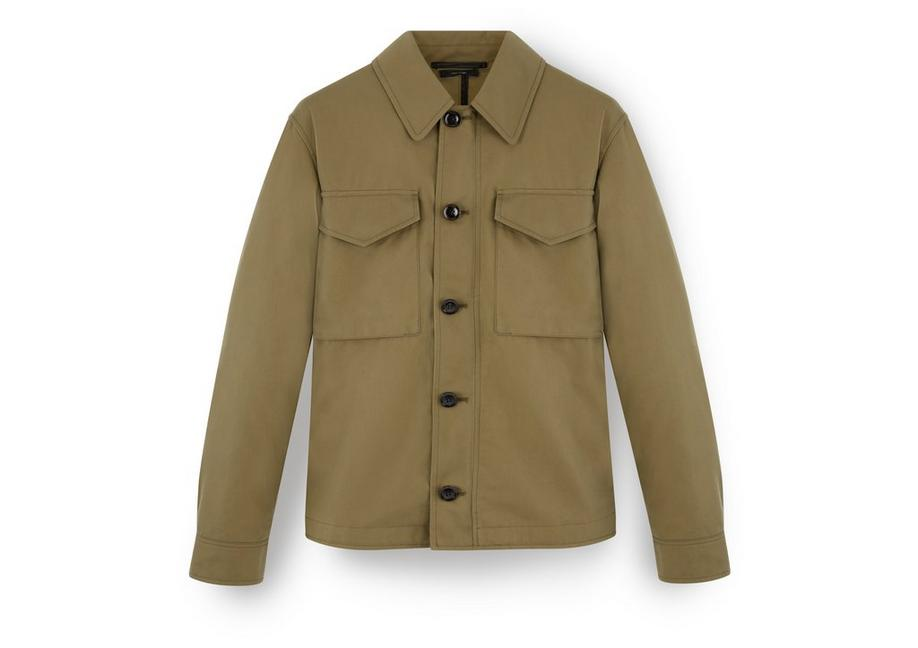 SIGNATURE COTTON ZIP OVERSHIRT A fullsize