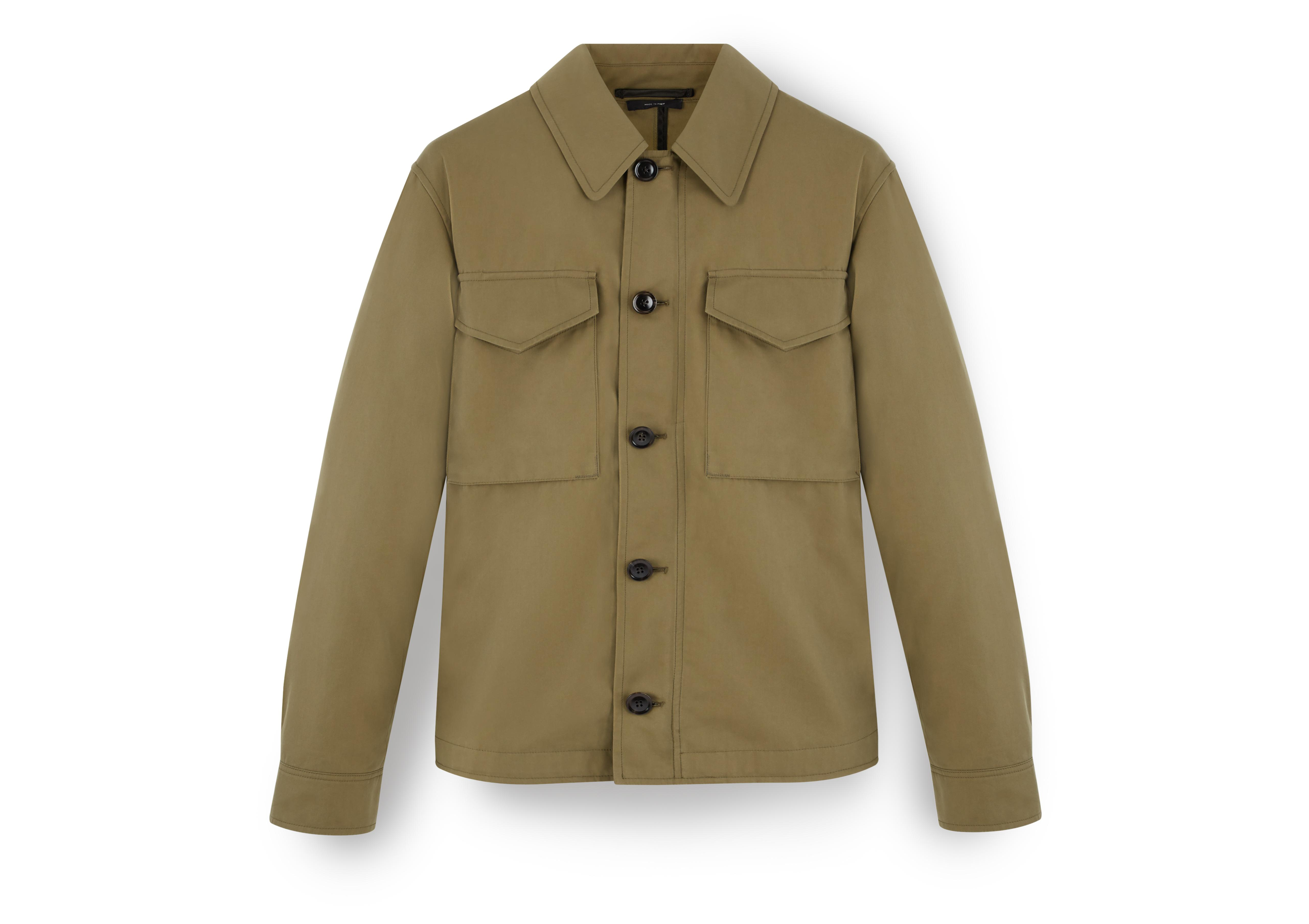 SIGNATURE COTTON ZIP OVERSHIRT A thumbnail