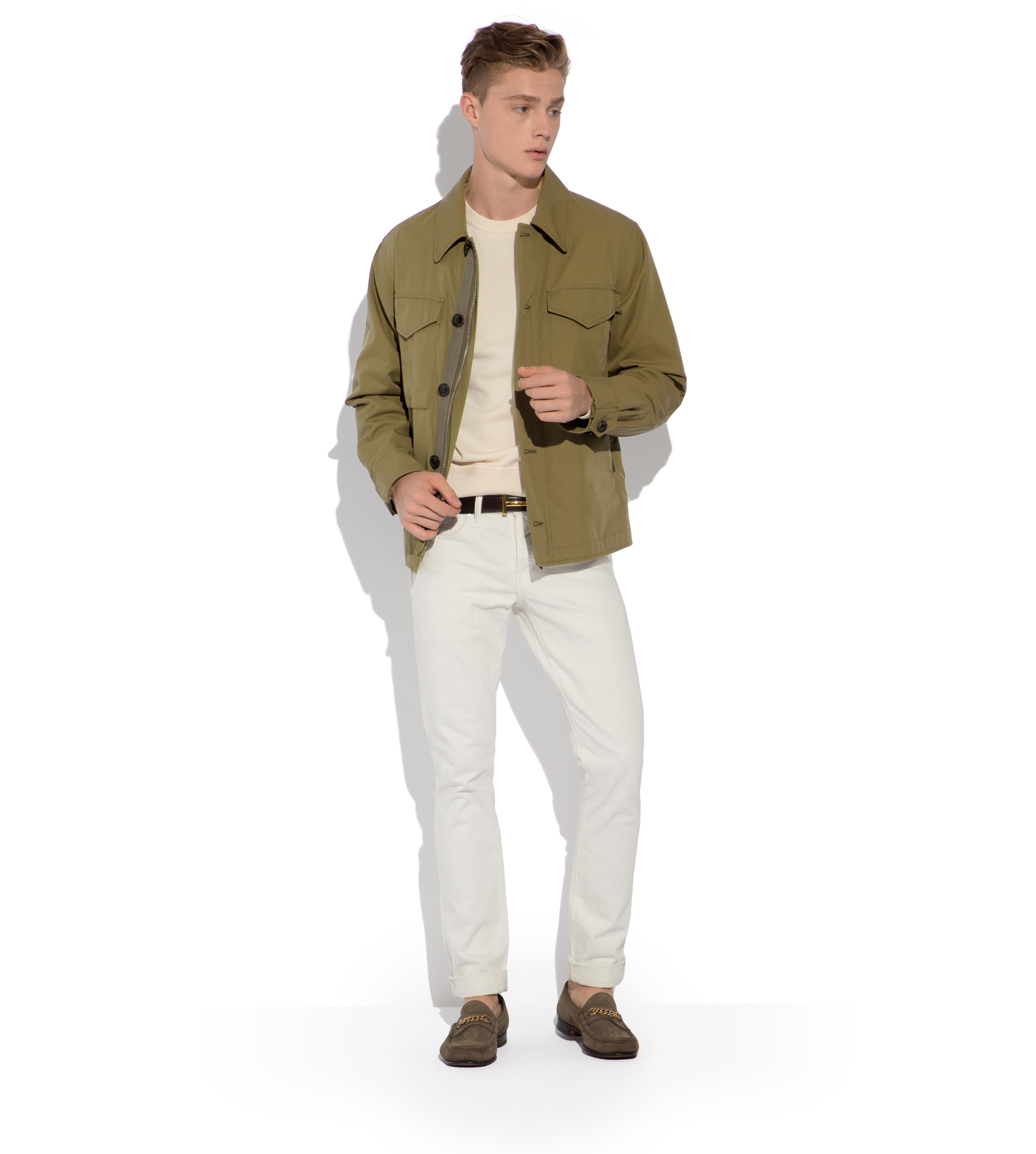 SIGNATURE COTTON ZIP OVERSHIRT B thumbnail