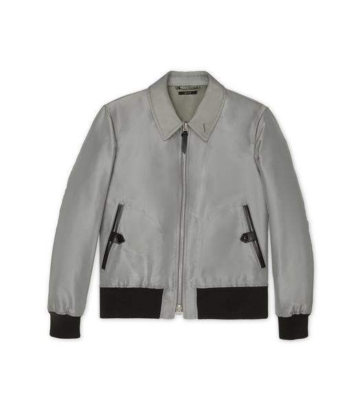 SILK GROSGRAIN TAILORED JACKET