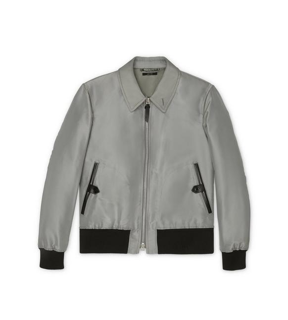 SILK GROSGRAIN TAILORED JACKET A fullsize
