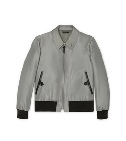 9210825028 SILK GROSGRAIN TAILORED JACKET