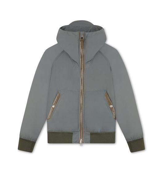 LIGHTWEIGHT HOODED NYLON JACKET