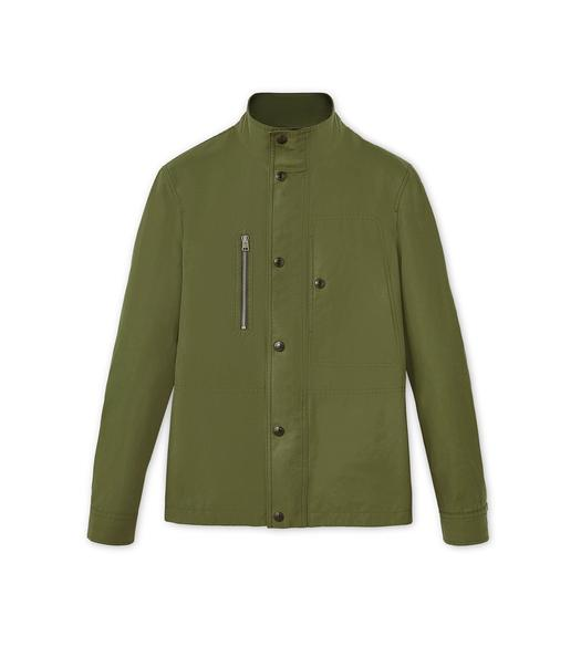 COTTON BLEND FUNNEL NECK OUTERSHIRT