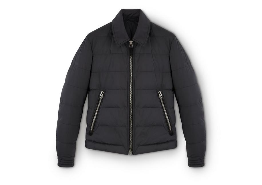 QUILTED DOWN ZIP JACKET A fullsize