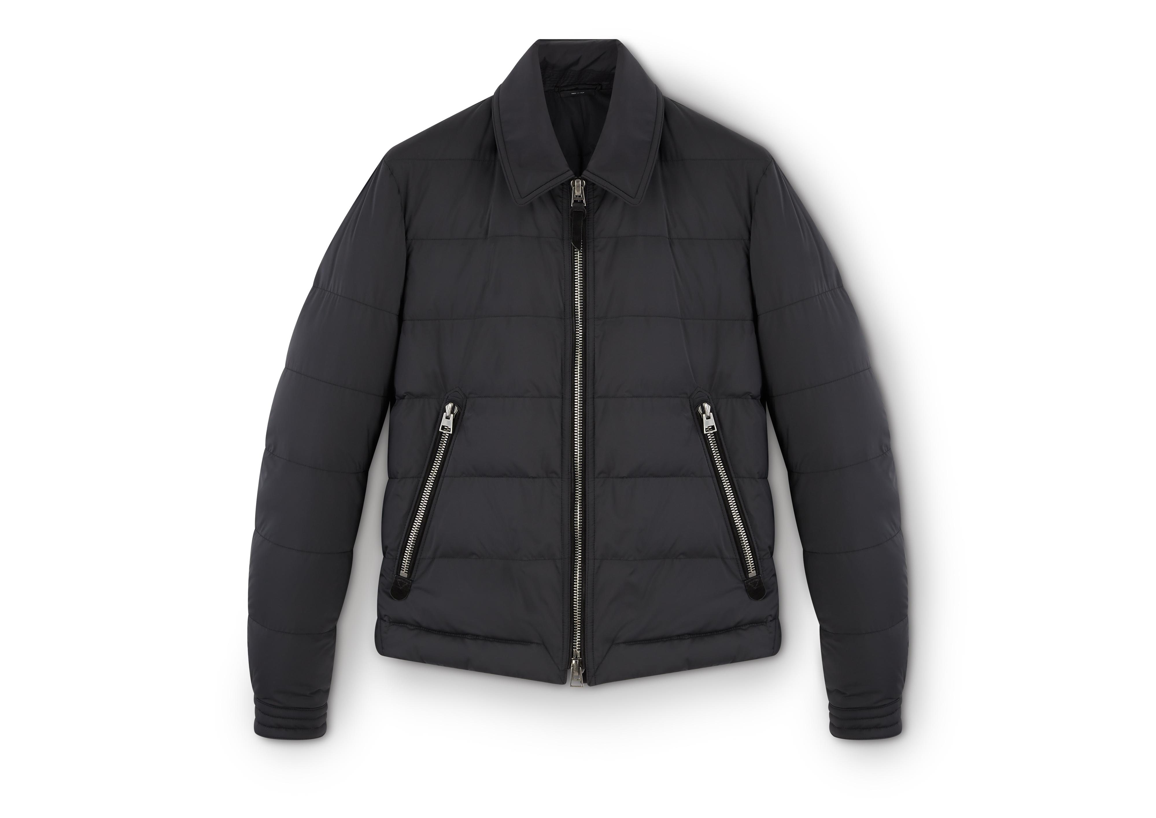QUILTED DOWN ZIP JACKET A thumbnail