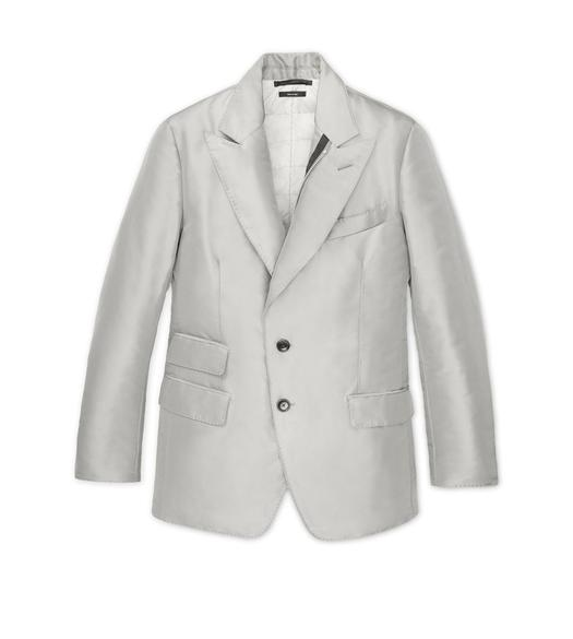SILK GROSGRAIN DOWN SARTORIAL JACKET