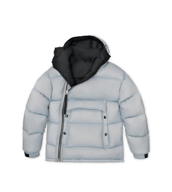 LIGHTWEIGHT NYLON HOODED PARKA A fullsize