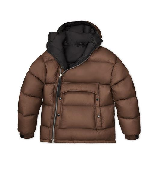 LIGHTWEIGHT NYLON HOODED PARKA