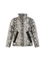 SNAKE PRINTED OVERSIZED DOWN JACKET A thumbnail