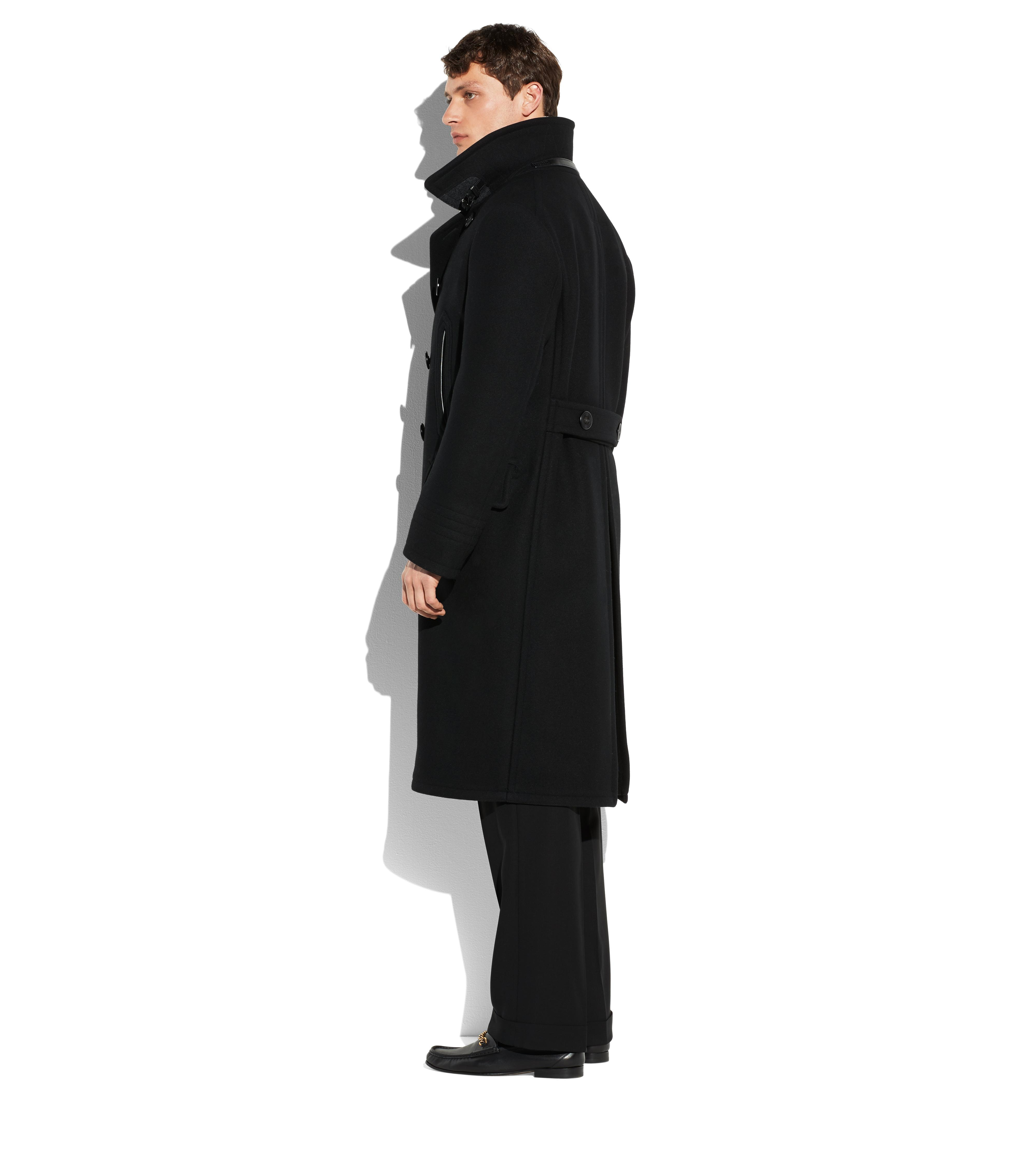 LONG PEACOAT WITH SHEARLING C thumbnail