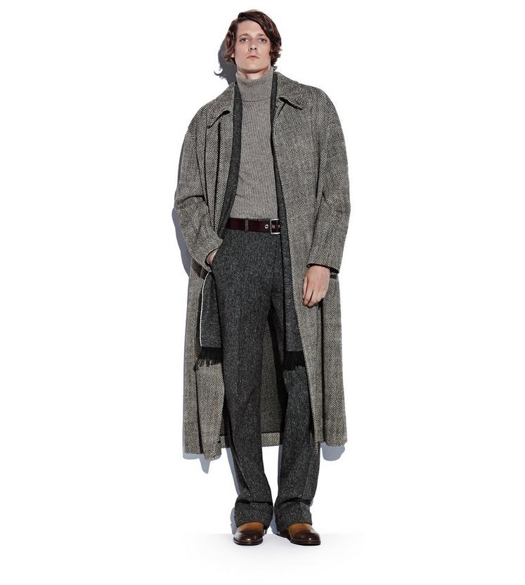 LONG HERRINGBONE COAT L fullsize