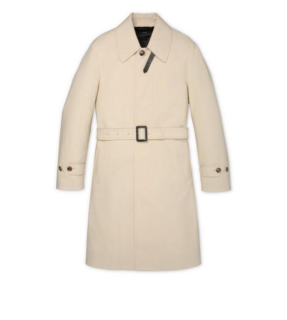 TRENCH COAT WITH LEATHER TRIM A fullsize
