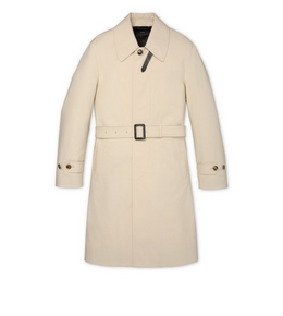 9210817229 TRENCH COAT WITH LEATHER TRIM