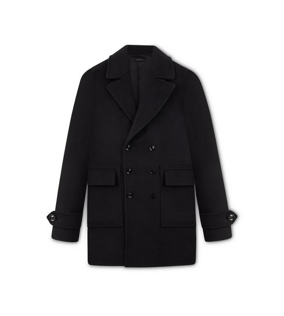 DOUBLE BREASTED WOOL COAT A fullsize