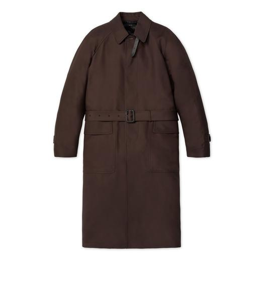 VISCOSE TWILL RAGLAN LONG COAT