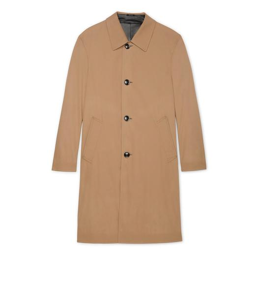 LEATHER AND COTTON REVERSIBLE COAT