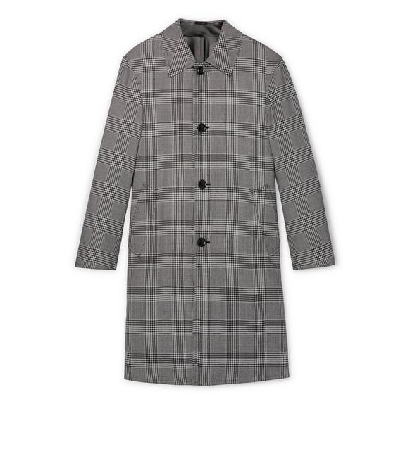 REVERSIBLE LEATHER AND WOOL COAT A fullsize