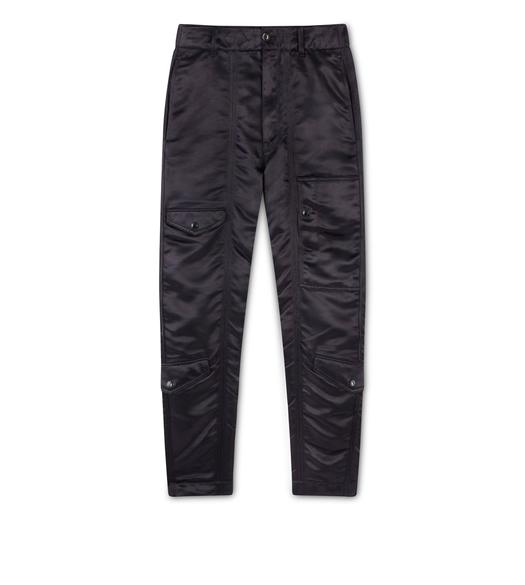 SHINE GABARDINE TAPERED PANTS