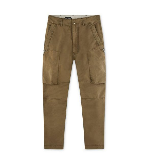 GARMENT WASHED CARGO PANTS A fullsize
