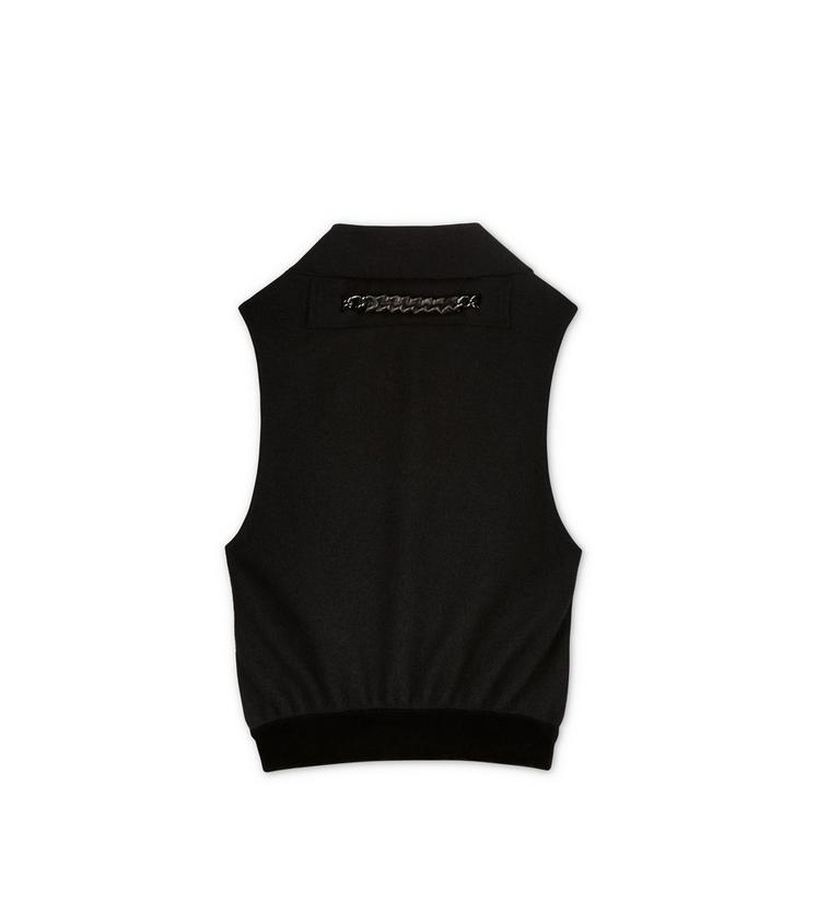 OPEN BACK SLEEVELESS TOP WITH NECK CHAIN A fullsize