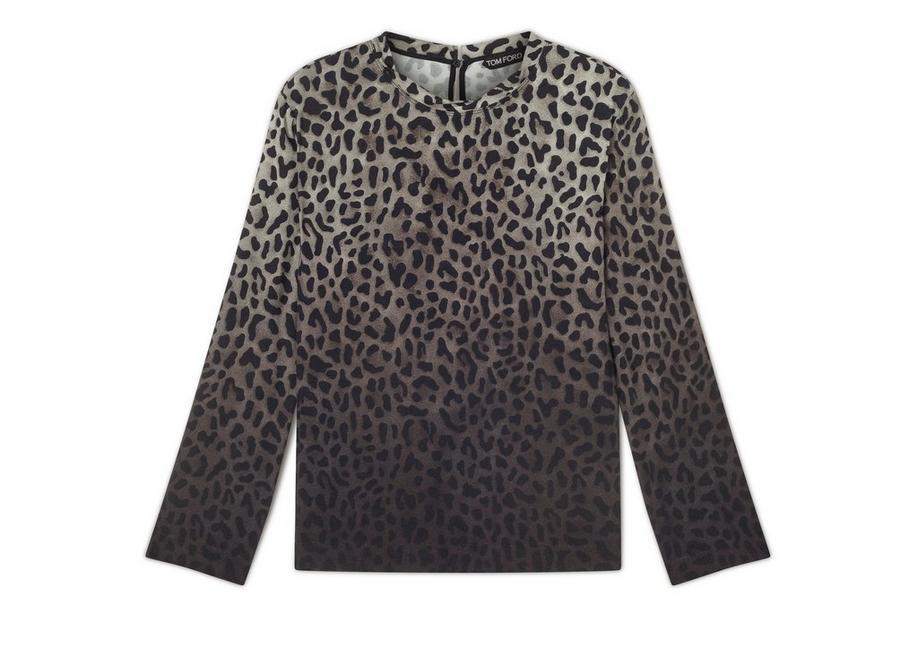 JAGUAR SABLE TWISTED NECK LONG SLEEVE TOP A fullsize