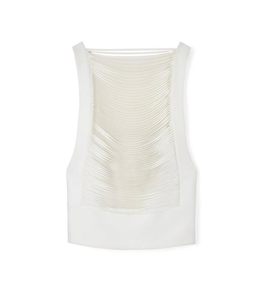 LASERCUT CADY SLEEVELESS TOP WITH BANDEAU
