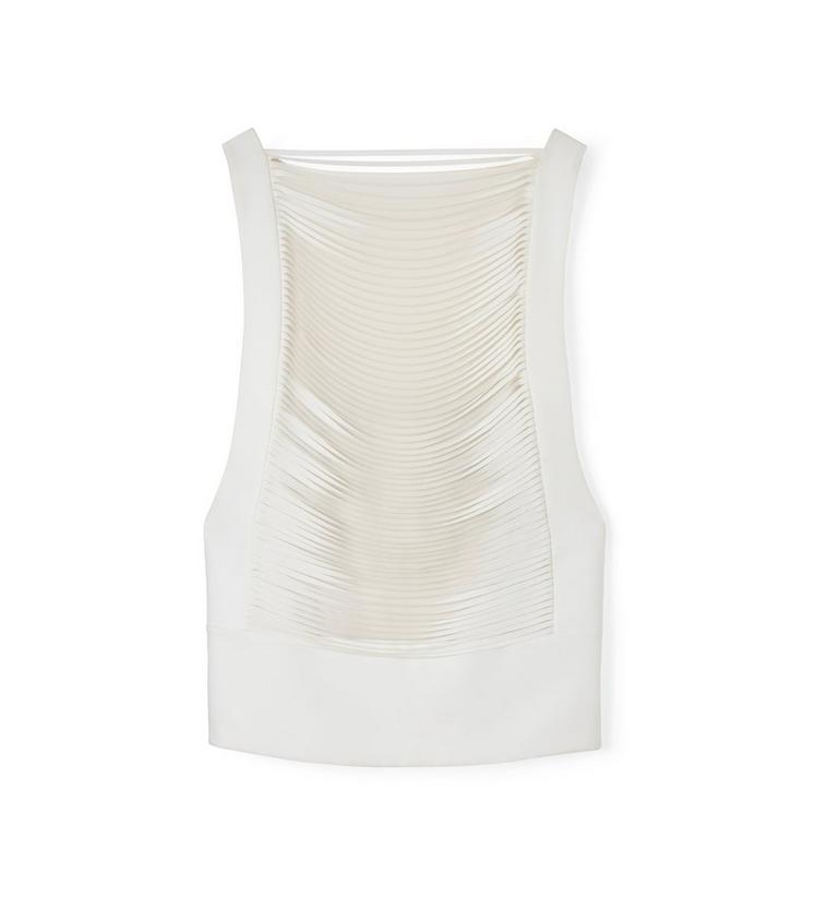 LASERCUT CADY SLEEVELESS TOP WITH BANDEAU A fullsize