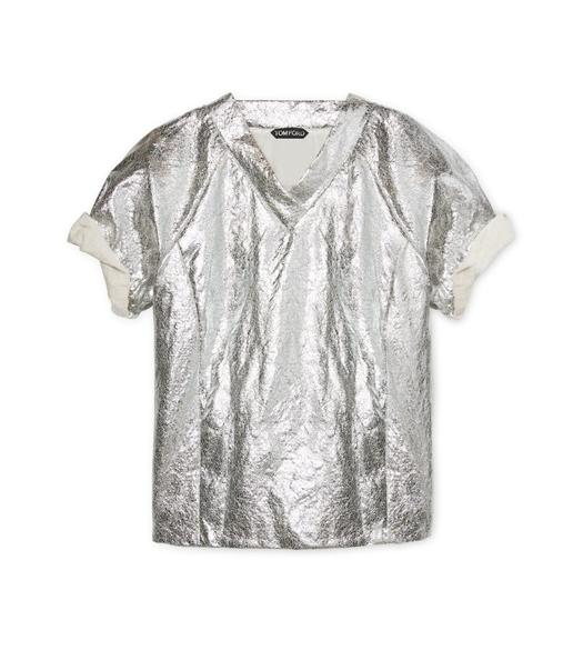 METALLIC V-NECK