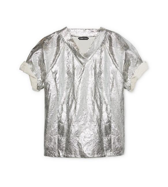 METALLIC V-NECK A fullsize