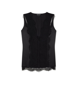 1335209866 STRETCH SILK AND LACE CAMISOLE