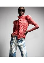 SILK TULLE RUCHED BLOUSE D thumbnail