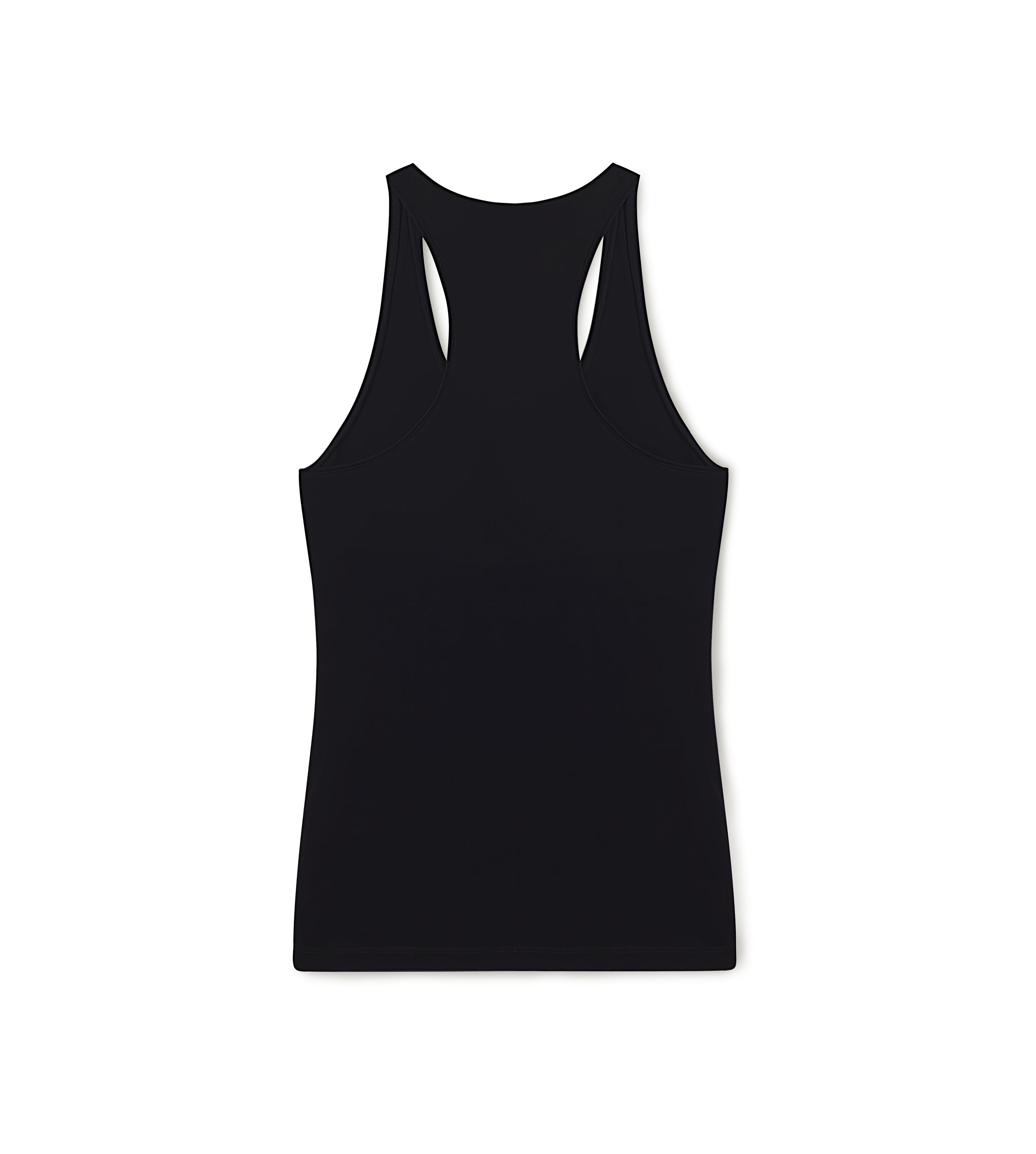 SCOOP NECK TANK TOP WITH PADLOCK ON LEATHER NECKLACE D thumbnail