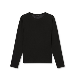 1335291833 COTTON LONG SLEEVE CREW NECK TOP