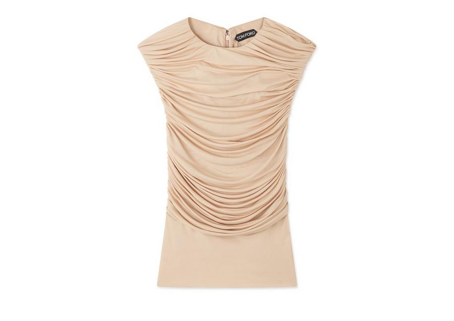 RUCHED SLEEVELESS TOP A fullsize