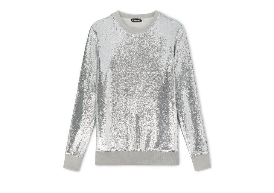 LIQUID SEQUIN SWEATSHIRT A fullsize