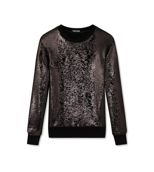 LIQUID SEQUIN SWEATSHIRT