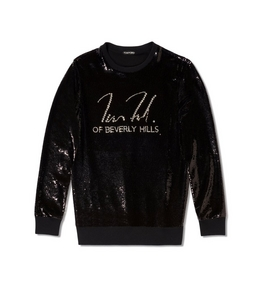 LIQUID SEQUIN SIGNATURE SWEATSHIRT
